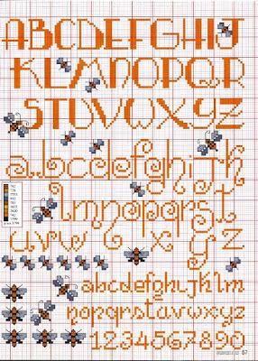 Alfabeti Punto Croce Corsivo Maiuscolo E Minuscolo Alfabeto