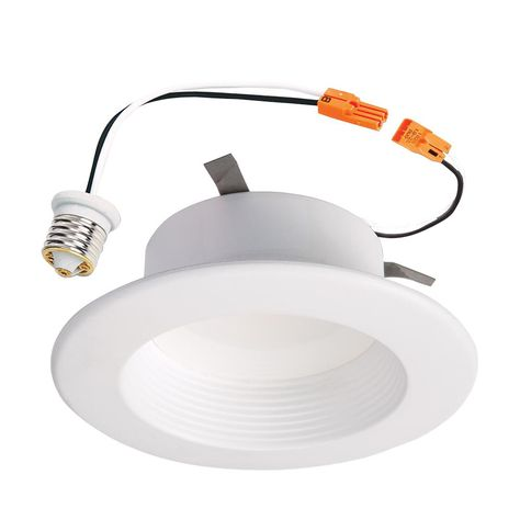 on sale a8930 86ab1 Halo RL 4 in. White Integrated LED Recessed Ceiling Light ...