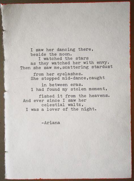 love poem original poetry love letter typography typographic | Etsy