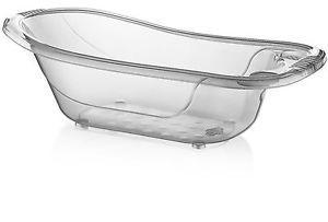Details About Large 50 Litre Aqua Clear Transparent Baby Bath Tub