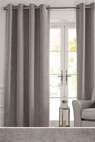 Buy Soft Velour Eyelet Lined Curtains From The Next Uk Online Shop