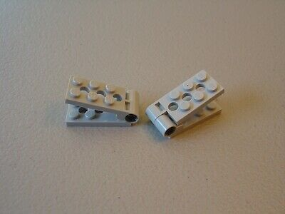 Black LEGO 98285 Hinge Plate 2 x 4 with Pin Hole and 3 Holes Bottom