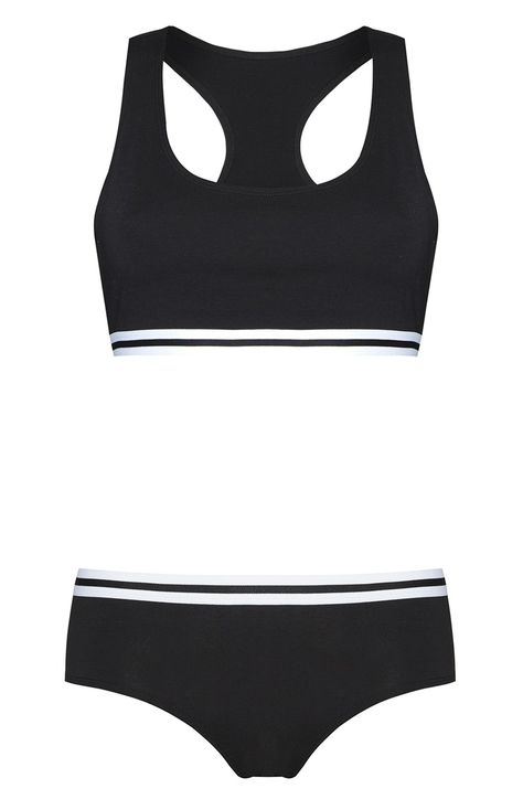 officiel dernière sélection prix imbattable Primark - Ensemble de sous-vêtements de sport noir | Clothes ...