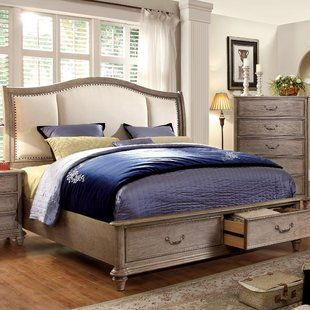 Upholstered Bed With Wood Trim Wayfair Rustic Master Bedroom Upholstered Platform Bed Upholstered Sleigh Bed Upholstered bed with wood trim