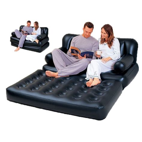 Multifunctional Inflatable Sofa Leather Folding Sofa Bed Outddor