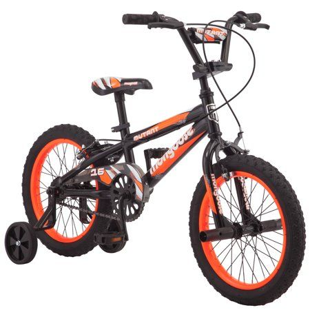Mongoose 16 Mutant Kids Bmx Style Bike Black Orange Walmart Com Boy Bike Kids Bicycle Kids Bike