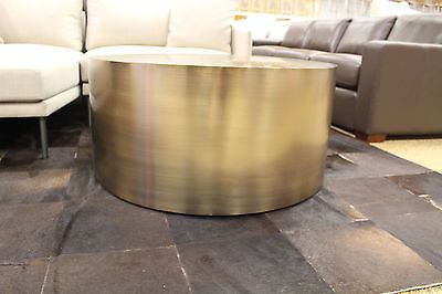 Milo Baughman Drum Coffee Table BRONZE DWR Design Within Reach Mid Century  | Drum Coffee Table, Drums And Coffee