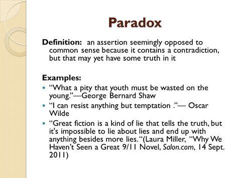 Paradox Vocabulary And Linguistics Pinterest Paradox
