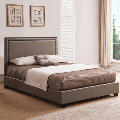 Winston Porter Kharbanda Upholstered Platform Bed Size Queen