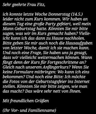 مجموعة مواضيع كتابية لمستوى من B1 Schreiben B2 A1 بورغر الماني Schreiben Geburtstag Mann Brief