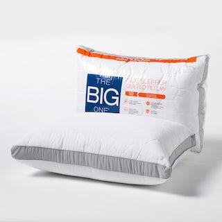 The Big One Microfiber Pillow Side Sleeper Pillow Bed Pillows