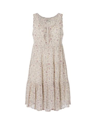Flowered summer dress - beige