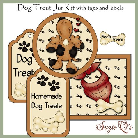 Make your own Dog Treat Jar  Labels and Tags  CU Digital image 0