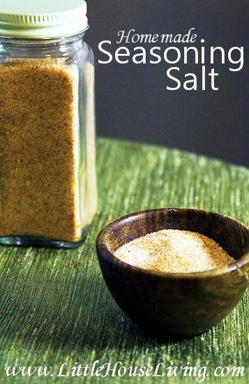 Homemade Seasoning Salt Recipe - Little House Living
