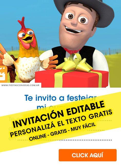 6 Invitaciones Y Tarjetas De Cumpleaños De La Granja