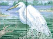 American Egret    - Tile