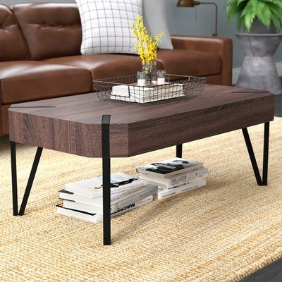 Union Rustic Vincente Coffee Table In 2020 Coffee Table With