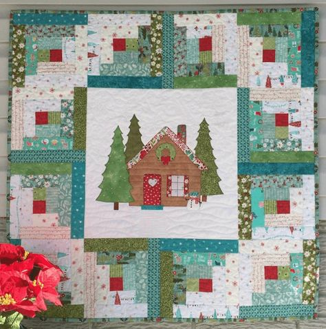 Log Cabin Christmas Quilt.Welcome Them Home With This Sweet Quilt Quilting