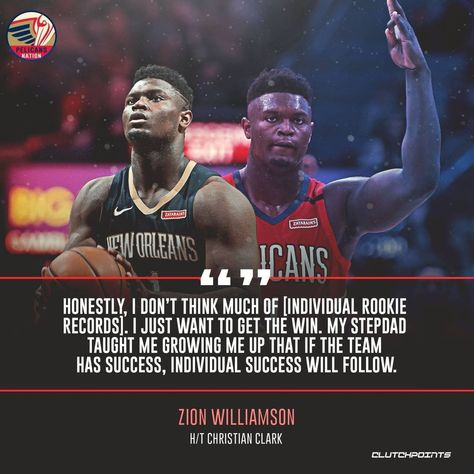 #team #selflessness #WednesdayWisdom #Wednesdaythought #wednesdaytip #‬Wednesdayvibes #Goodwednesday #teamsuccess Posted @withregram • @pelsnationcp #ZionWilliamson #neworleans #pelicans