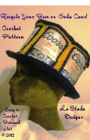 9e76e5d1e82 Recycled Beer Can Soda Can Hat Crochet Pattern