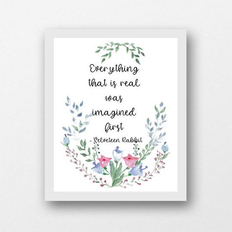 Velveteen Rabbit quote everything that is real children's | Etsy