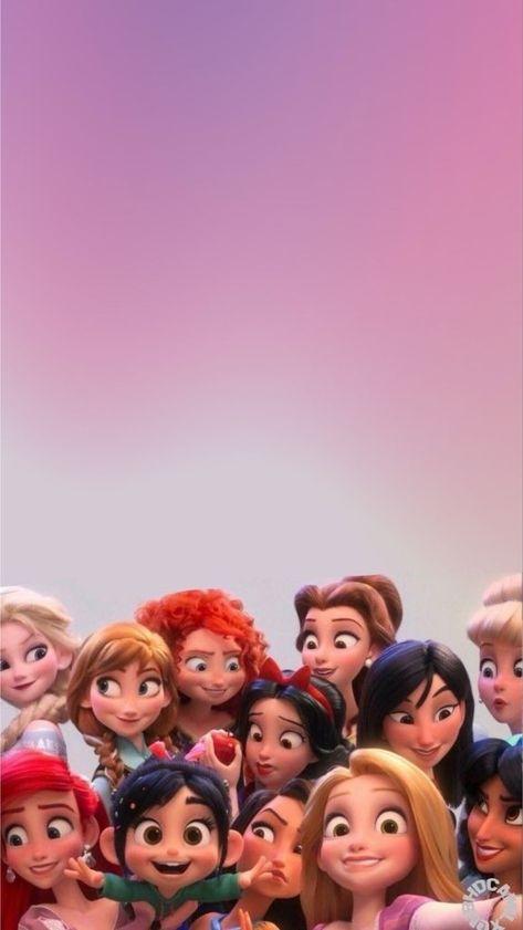 Wreck It Ralph 2 Disney Princesses Lock Screen Phone