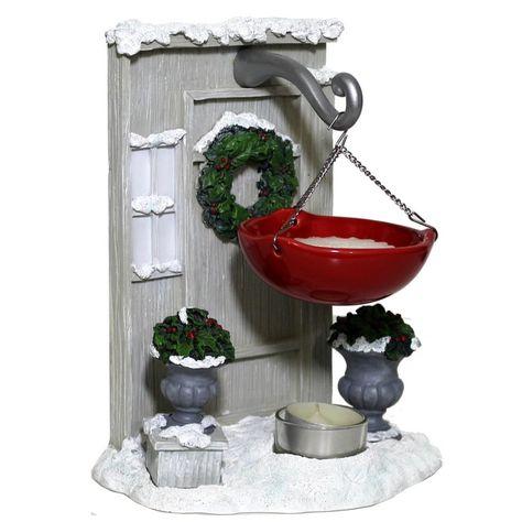 Yankee Candle Hanging Door Wreath Tart Burner Christmas Hook Wax Melts Warmer #YankeeCandle #Christmas