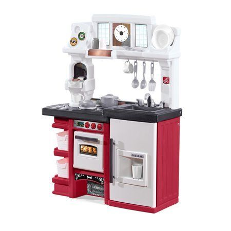 Step2 Coffee Time Play Kitchen Set With Toy Coffee Maker Locolow Kids Toy Kitchen Play Kitchen Sets Play Kitchen