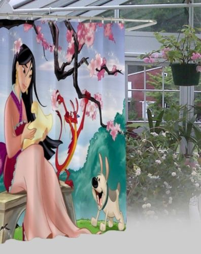 New Mulan Disney Waterproof High Quality Shower Curtain 60 034 X