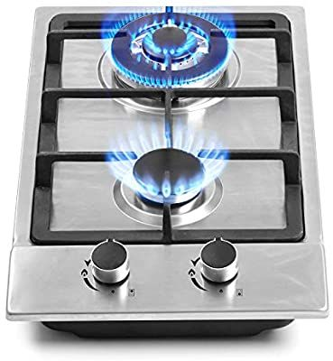 Amazon Com 12 Gas Cooktops 2 Burner Drop In Propane Natural Gas Cooker 12 Inch Stainless Steel Gas Stove In 2020 Gas Cooker Gas Stove Top Stainless Steel Gas Stove