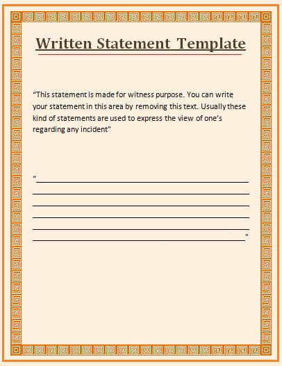 Witness Statement Form Template Fresh Witness Statement Template