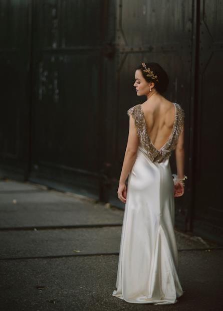 Johanna Johnson wedding gown.  photo by Gabe McClintock Photography