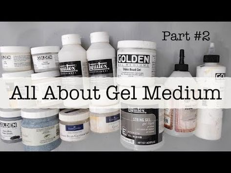 This is a beginners mixed media video. Its part 2 of the all about gel medium video. I go more in depth into what is gel medium and the different gels on the. Mixed Media Techniques, Mixed Media Tutorials, Art Techniques, Art Tutorials, Acrylic Gel Medium, Gelli Printing, Screen Printing, Acrylic Painting Techniques, Texture Art