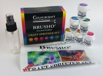 J Stuff Brusho Crystal Colour 6er Set Spritzer Set Mit