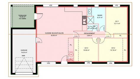 Plan Maison Contemporaine Gratuit Idées pour la maison Pinterest - plan maison france confort