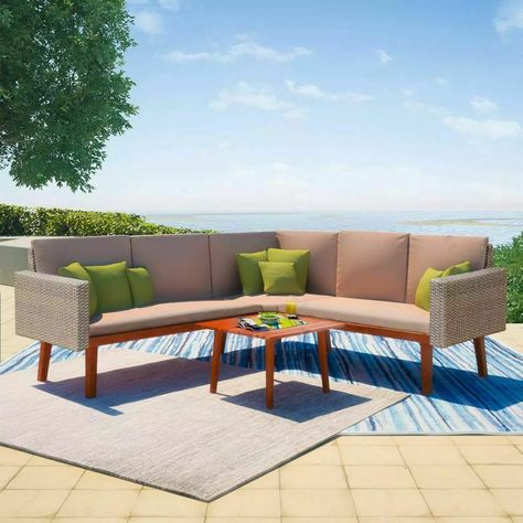 Magari Furniture Mag1308v6c Outdoor 6 Piece Aluminum Rattan Pool Patio Garden Set Dark Grey Read More At With Images Deep Seating Seating Groups Conversation Set Patio
