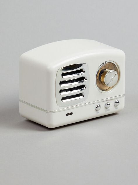 <p>This mini and portable wireless Bluetooth speaker is perfect for adding a cute retro feel to any space. This speaker supports all devices, has FM radio, has high quality sound performance, and has a built in mic for hands free calling. This speaker makes the perfect gift for anyone on your list!&nbsp;</p> Wireless Speakers, Bluetooth, Pinterest Room Decor, Baby Bathroom, Wedding Branding, Teen Room Decor, Pipe Lamp, Cool Gadgets, Home Decor Items