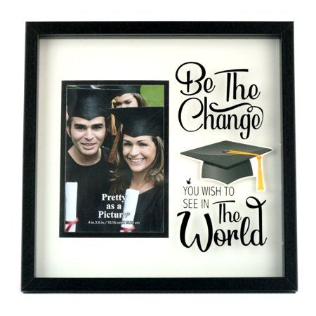 Way To Celebrate Graduation Shadowbox Picture Frame Black And White Walmart Com Frame Picture Frames Shadow Box