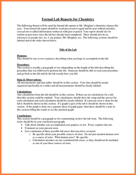 32 Formal Lab Report Template In 2020 With Images Lab Report