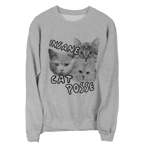 Insane Cat Posse sweatshirt UNISEX sizes S M L by PsychicTrashShop