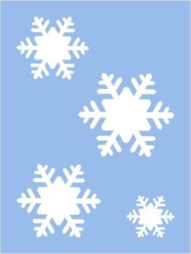 Winter Stencil Let It Snow Snowflakes Holiday Country Christmas Primitive Signs