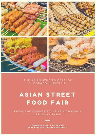 Pink Photo Grid Food Festival Poster Food Festival Poster Food