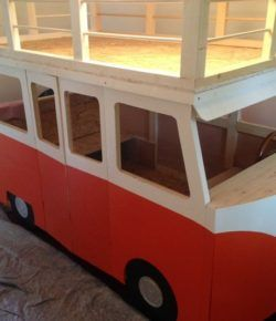 Diy Vw Micro Bus Bunk Bed And Playhouse Kinder Zimmer Autobett