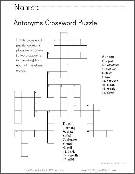 math worksheet : using story elements to write a rap  english language arts and  : Math Crossword Puzzles Pdf
