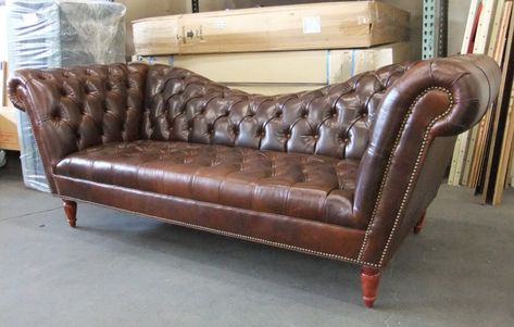 Leather Camelback Sofas Couches Couch Traditional Reverse Chesterfield
