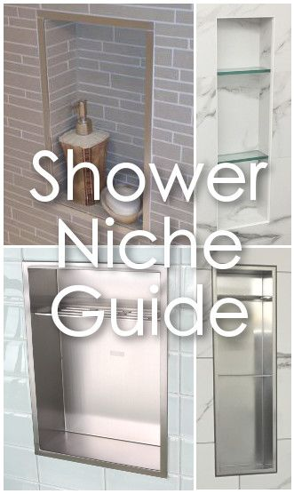 The complete guide for anyone installing a shower niche. Covers...What is a shower niche? What kind of shower niche design should i choose? (shower niche types). Deciding on shower niche height, size and position. Plus... how to avoid the common shower niche problems.