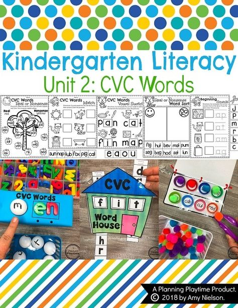 Kindergarten Literacy Unit 2