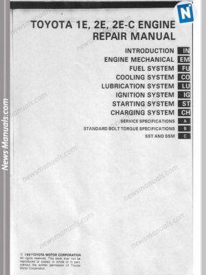Toyota 1e 2e Repair Manual 21218t300009 Page2 Repair Manuals Repair Repair Guide
