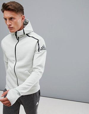 adidas ZNE Hoodie In Grey Heather CY9904 | Мужской трикотаж