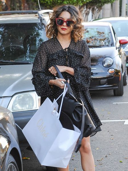Vanessa Hudgens goes shopping at Chloe in West Hollywood.
